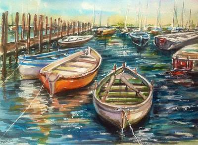 Near The Harbour Art Print