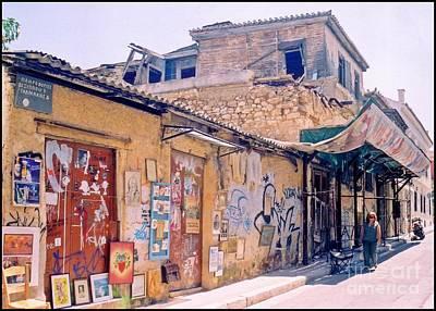 Monastiraki Photograph - Near The Monastiraki In Greece by John Malone