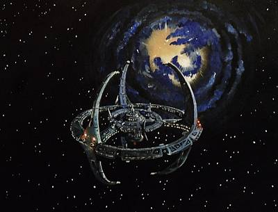 Deep Space Painting - Near The Wormhole by Tim Loughner