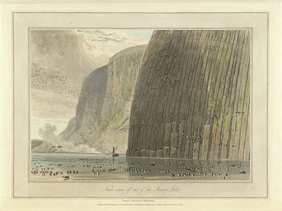 Near View Of One Of The Shiant Isles Art Print by British Library