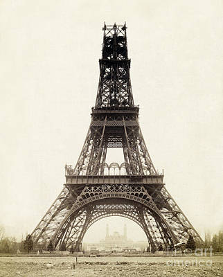 Photograph - Nearly-finished Eiffel Tower, 1888 by Getty Research Inst.