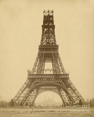 Photograph - Nearly-finished Eiffel Tower, 1888 by Getty Research Institute