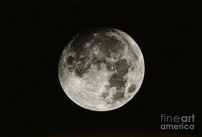 Nearly Full Moon Art Print