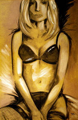 Erotic Energy Painting - Nearly Naked Gold by Debi Starr