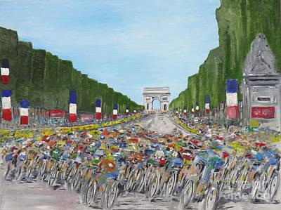 Champs Elysees Painting - Nearly There by Chris O'Reilly