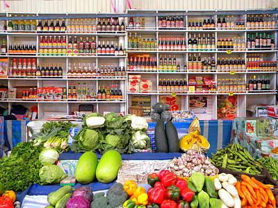 Photograph - Neat Market by Lew Davis