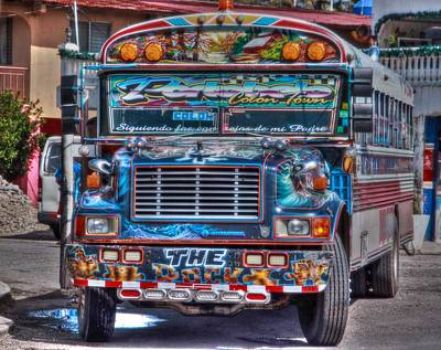 Neat Panamanian Graffiti Bus  Art Print