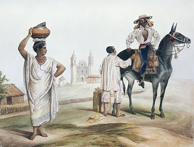 Mesoamerican Painting - Nebel Mexican Peddlers by Granger