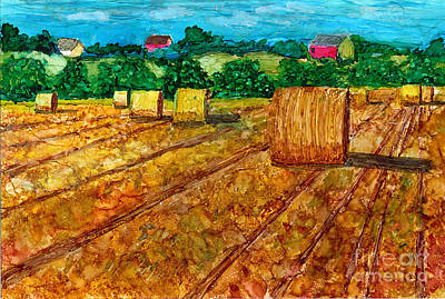 Wall Art - Mixed Media - Nebraska by Alene Sirott-Cope