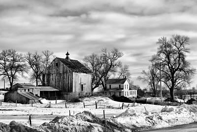 Photograph - Nebraska Farm In Winter by Nikolyn McDonald
