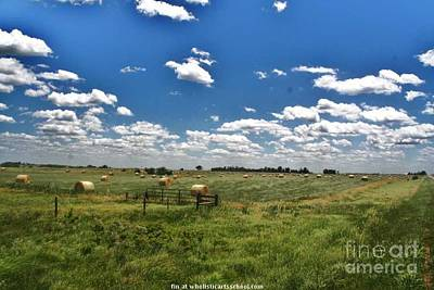 Nebraska Hay Baling Art Print by PainterArtist FIN