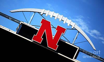 Nebraska Husker Memorial Stadium Art Print