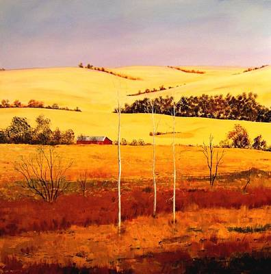 Art Print featuring the painting Nebraska Plains by William Renzulli