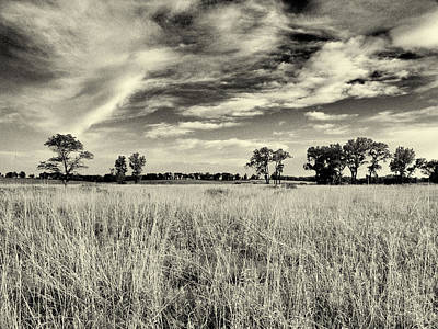 Photograph - Nebraska Prairie One In Black And White by Joshua House