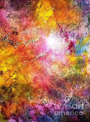 Painting - Nebula 12 by Laura Hamill