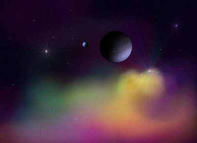 Digital Art - Nebula 2 by Ricky Haug