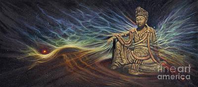 Painting - Celestial Buddha by Birgit Seeger-Brooks