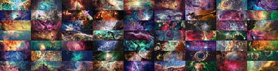 Digital Art - Nebula Collage  by Taylan Apukovska