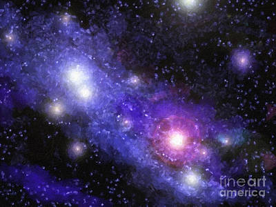 Constellations Painting - Nebula Digital Painting by Antony McAulay