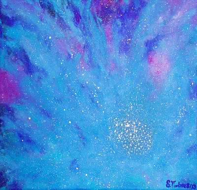Nebula Flower Art Print