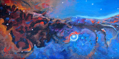 Eagle Nebula Painting - Nebula Reach by Toni Wolf