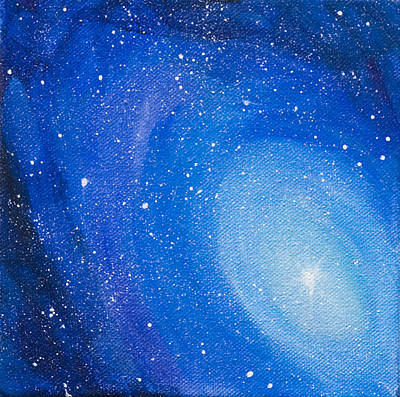 Painting - Blue Nebula by Yulia Kazansky