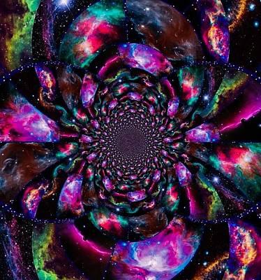 Digital Art - Nebulae Fractal by Karen Buford