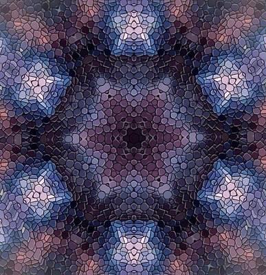 Digital Art - Nebulae Mandala by Karen Buford
