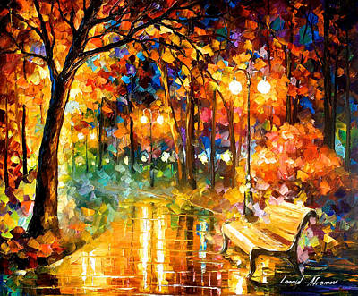 Free Painting - Necessity Of Passion - Palette Knife Oil Painting On Canvas By Leonid Afremov by Leonid Afremov