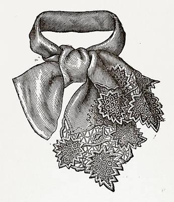 Necktie, 19th Century Fashion Art Print