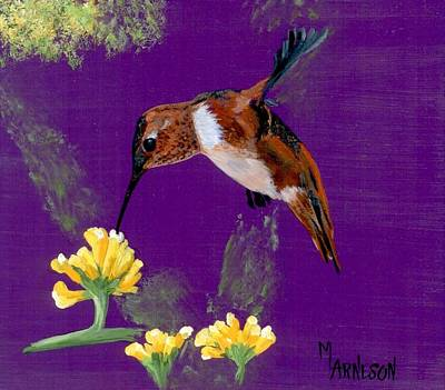 Painting - Nectar For A Rufus by Mary Arneson