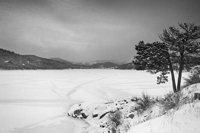 Marvelous Marble - Nederland Colorado Barker Reservoir Winter View BW by James BO Insogna