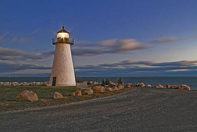 Photograph - Neds Point Lighthouse In Evening by Paul and Janice Russell