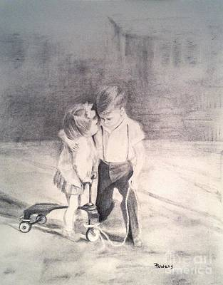 Drawing - Need A Hug? by Mary Lynne Powers