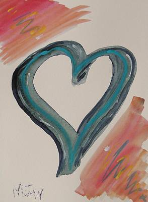 Pennsylvania Drawing - Need For A Blue Heart by Mary Carol Williams