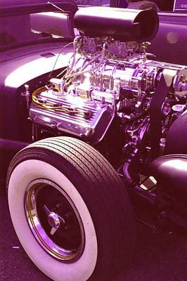 Purple V8 Photograph - Need For Speed by Fred Knopp