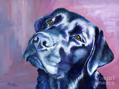 Painting - Need Help With That? Black Lab by Amy Reges
