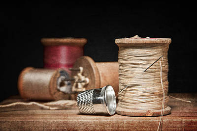 Closeup Photograph - Needle And Thread by Tom Mc Nemar