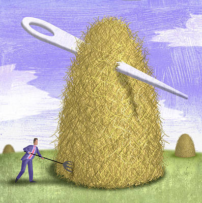 Searching Digital Art - Needle In A Haystack by Steve Dininno