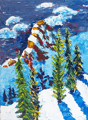 Painting - Needles At Noon by Walt Brodis
