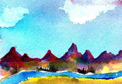 Art Print featuring the painting Needles Mountains by Anne Duke