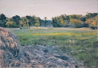 Farm Fields Painting - Needlestack by Christopher Reid