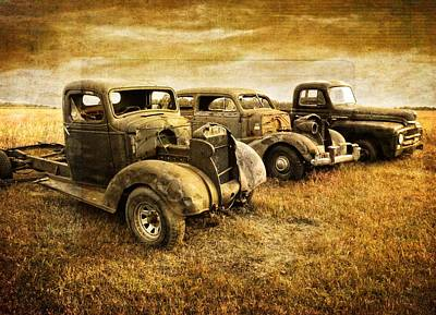 Photograph - Vintage Vehicles by Ray Van Gundy