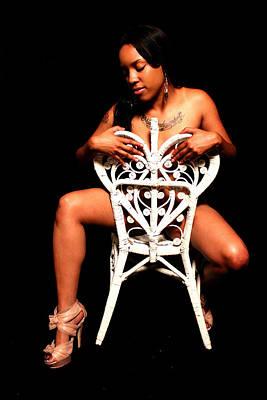 Seated Nude Girl Photograph - Neesha by Michael Beals