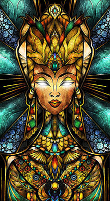 Digital Art - Nefertiti by Mandie Manzano