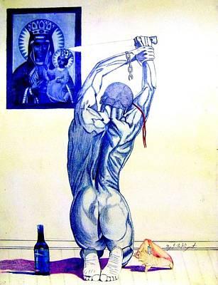Neg Marronthe Worshiper Art Print by Neg Ayiti