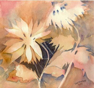 Negative Flowers Art Print