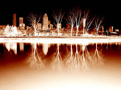 Negative Reflections  Art Print by Robert Knight