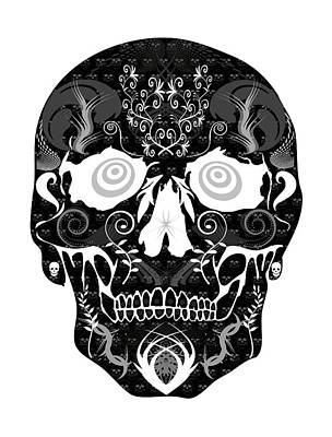 Dark Skull Art Print by Mauro Celotti