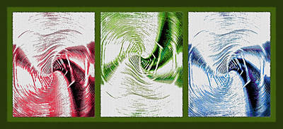 Negative Space Triptych - Inverted Art Print by Steve Ohlsen